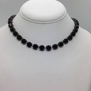 Swarovski Crystal Jet Black Chaton Necklace Set